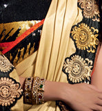 STYLISHBAZAAR SPECIAL OCCASION WEAR SAREE ONLINE SHOPPING INDIA CREAM SHIMMER