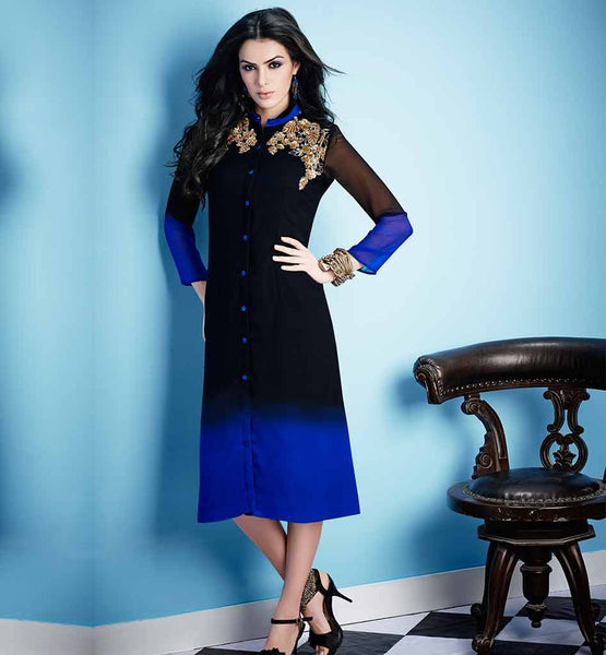 BUY SHADED DESIGNER INDIAN PARTY WEAR LONG SEQUINS KURTIS TUNICS TOP