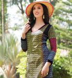 CUTE STYLE WOMEN'S INDIAN TUNICS FOR SALE AT BEST RATES PURE COTTON KURTI PATTERNS TRENDY V-NECK DESIGN