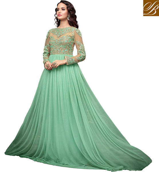 LATEST DESIGN FLOOR LENGTH MAISHA MASKEEN ANARKALI 2203