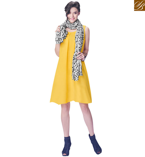 STYLISH BAZAAR GEORGETTE YELLOW TOP FOR A SPECIAL LOOK RTINW224