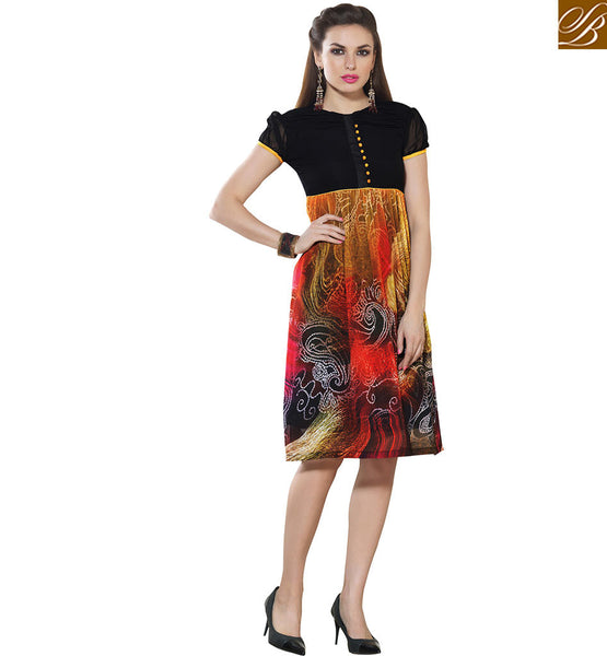 STYLISH BAZAAR CAPTIVATING GEORGETTE DIGITAL PRINTED KURTI VDSMM224