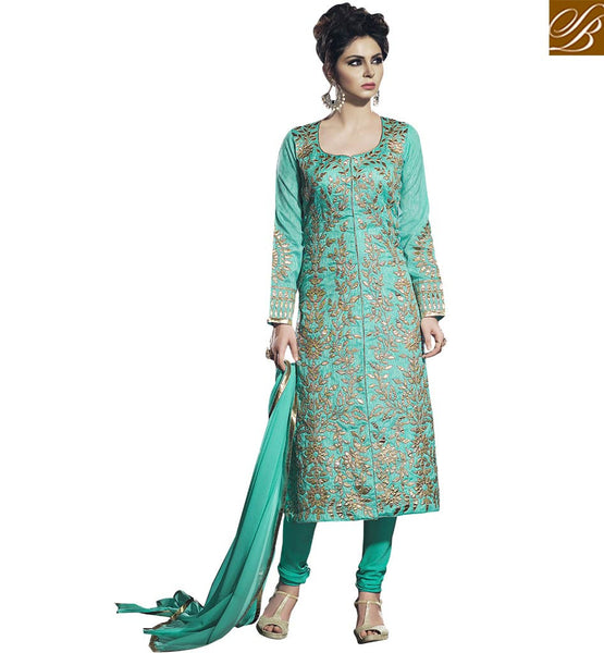 EXCELLENTLY DESIGNED PARTY WEAR PAKISTANI STYLE CHURIDAAR BLFS2253 BY STYLISH BAZAAR