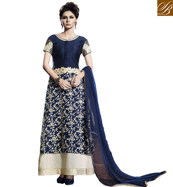 BROUGHT TO YOU BY STYLISH BAZAAR BEWITCHING DESIGNER ANARKALI STYLE SALWAAR SUIT FOR SPECIAL OCCASIONS BLFS2255