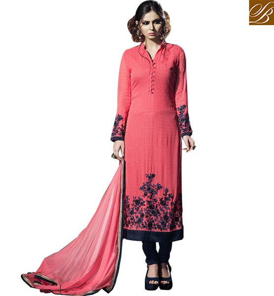 FROM THE HOUSE  OF STYLISH BAZAAR ELEGANT STRAIGHT CUT SALWAAR KAMEEZ DESIGN BLFS2256