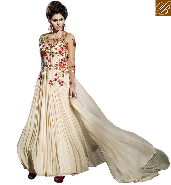 SPLENDID DESIGNER GOWN FOR ALL SPECIAL EVENTS BLFS2258  BY STYLISH BAZAAR