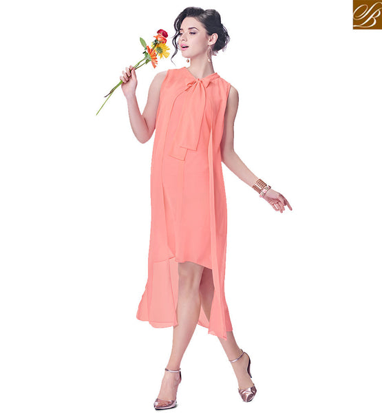 BROUGHT TO YOU BY STYLISH BAZAAR INCREDIBLE PLAIN PEACH TOP WITH FANCY COLLAR RTINW226