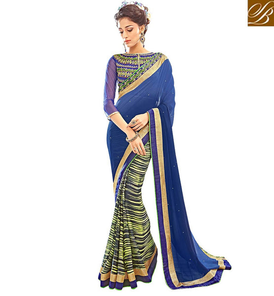 STYLISH BAZAAR FASCINATING INDIAN DIGITAL PRINT SAREE ONLINE RTARL23001