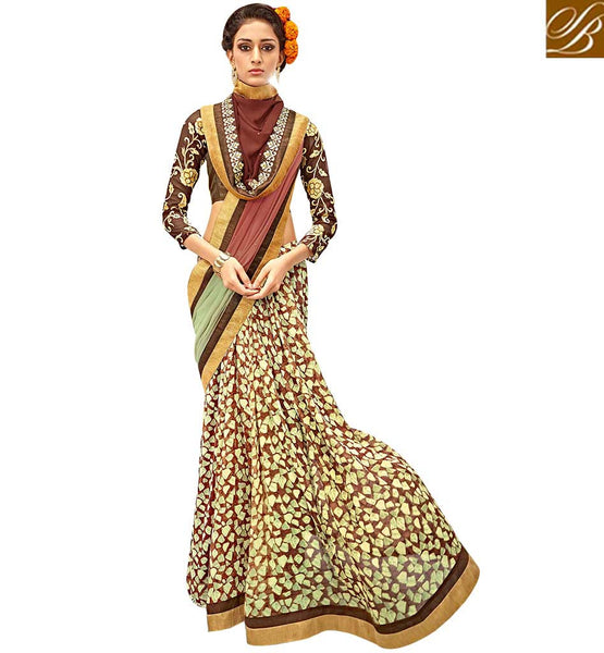 STYLISH BAZAAR REMARKABLE DESIGNER SAREE DESIGN RTARL23010