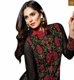 BROUGHT TO YOU BY STYLISH BAZAAR THRIVING BLACK COLORED SUIT WITH MULTI COLOUR EBMBROIDERY WORK SLBLA2342