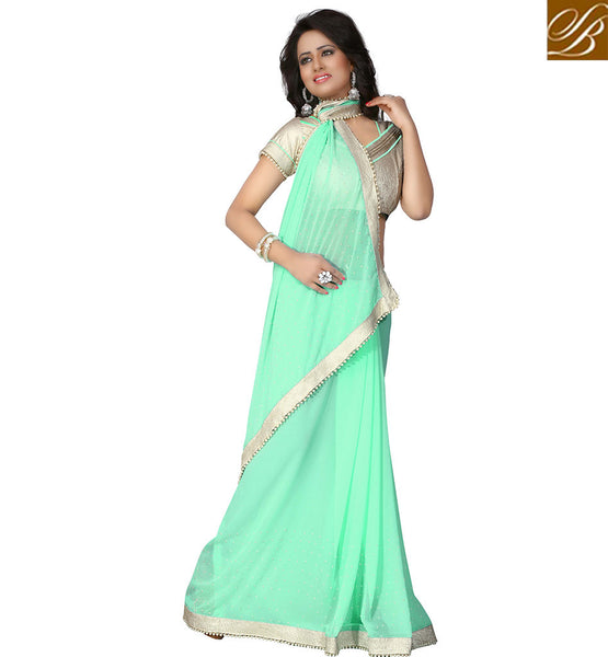 BROUGHT TO YOU BY STYLISH BAZAAR INCREDIBLE DESIGNER SARI FOR PARTIES VDAIN238
