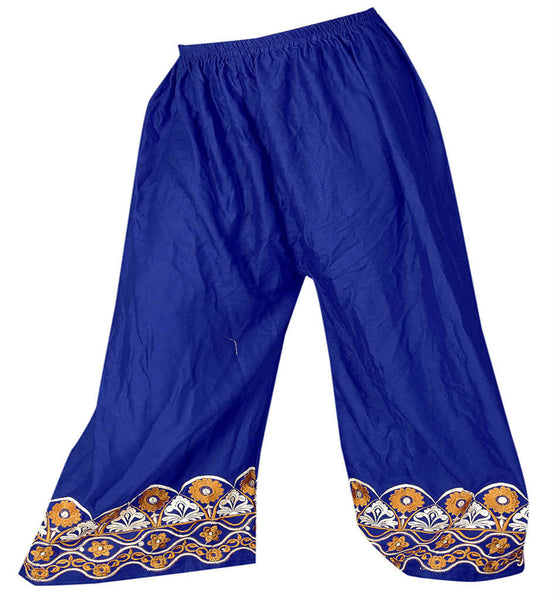 WOMEN FANCY MALAI COTTON EMBROIDERED PALAZZO TYPE SALWAR BOTTOMS