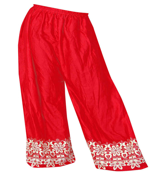 WOMEN BROAD BOTTOM COMFORTABLE MALAI COTTON SALWAR ELASTIC WAISTBAND