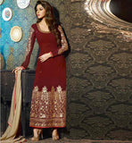 LATEST IN INDIAN WOMEN'S FASHION STRAIGHT FULL LENGTH SAWLAR KAMEEZ