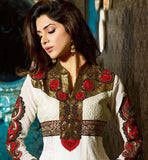 KARACHI STYLE LONG STRAIGHT DESIGNER SALWAR KAMEEZ DRESS FOR WOMEN