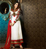 NEW ARRIVAL LONG STRAIGHT SALWAR KAMEEZ TRENDY KARACHI PATTERN DRESS