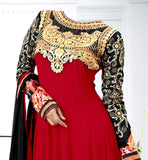 anarkali dresses with embroidery