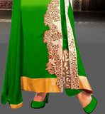 SHADED GREEN WOMENS PARTY WEAR SALWAR SUIT