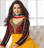 Sonali bendre in pretty yellow anarkali