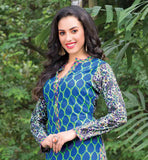 CASUAL WEAR TOPS FOR INDIAN WOMEN WITH DIFFERENT FRONT AND BACK STYLISH LADIES TOPS DESIGN PRINTED PURE COTTON