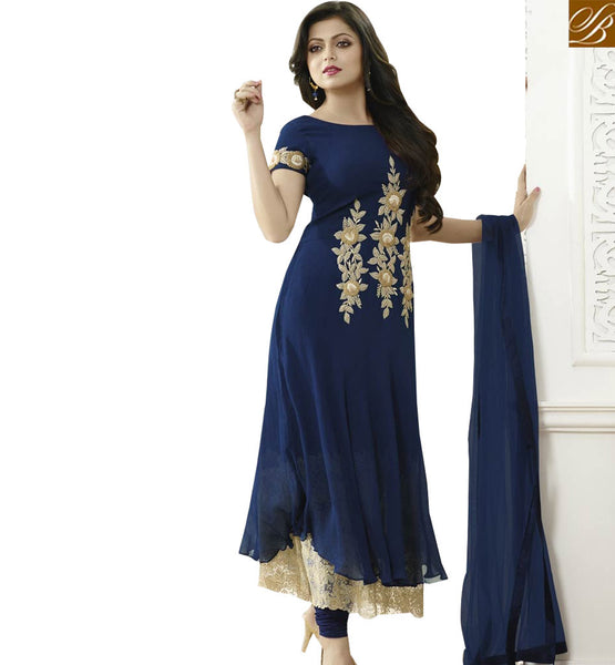 LAVISH SALWAAR KAMEEZ FOR PARTIES LTNT81007 BY NAVY BLUE
