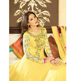 Nargis Fakhri in Yellow Anarkali dress
