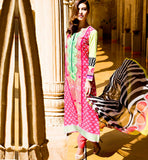 Pakistani style long kameez with churidar salwar