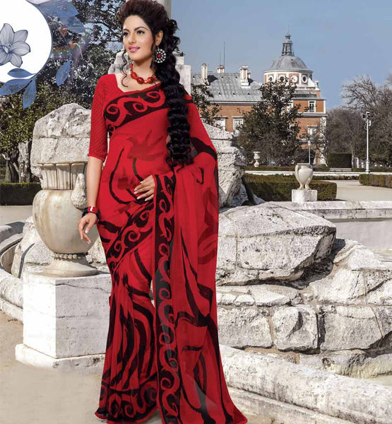 PRINTED CASUAL WEAR SAREE WITH BLOUSE STYLISHBAZAAR ONLINE INDIAN SAREES STORE