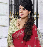 MAROON PRINTED CASUAL SAREE WITH BLOUSE STYLISHBAZAAR ONLINE SHOPPING WEBSITE INDIA