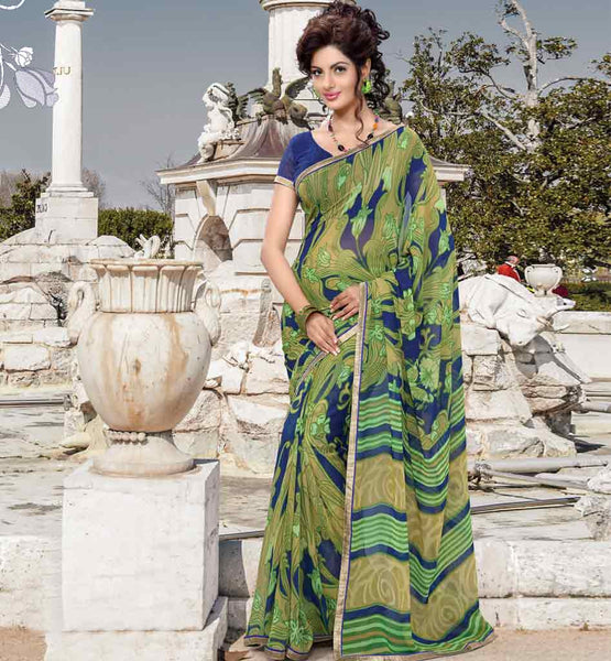 PRINTED SAREE WITH BLOUSE | INDIAN CASUAL SAREES BUY ONLINE STYLISHBAZAAR