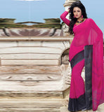Printed Georgette casual wear saree stylishbazaar Cheap Indian Sarees
