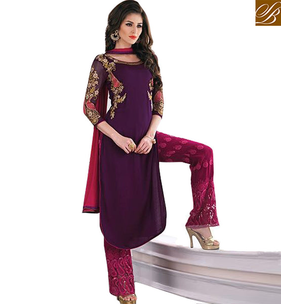 FROM THE HOUSE  OF STYLISH BAZAAR ADORABLE SALWAAR KAMEEX DESIGN FOR PARTIES KMSH2701