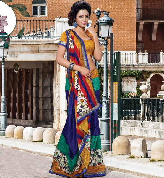 Art Silk casual sarees Online shopping India stylish bazaar