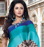 Printed Casual wear sarees Stylishbazaar online shopping