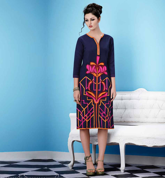 ITALIAN DESIGNER LOOK PARTY WEAR LONG GEORGETTE KURTI ONLINE SHOPPING
