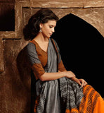 ORANGE & GREY SARI RTYAT28005