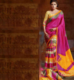PINK & YELLOW SARI RTYAT28010