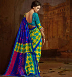 YELLOW & BLUE SARI RTYAT28019