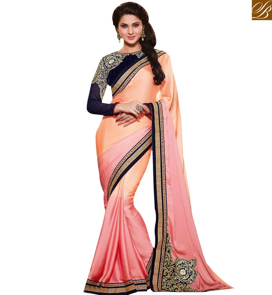 STYLISH BAZAAR ATTRACTIVE DESIGNER SAREE WITH EYE CATCHING EMBROIDERY WORK RTJM2809