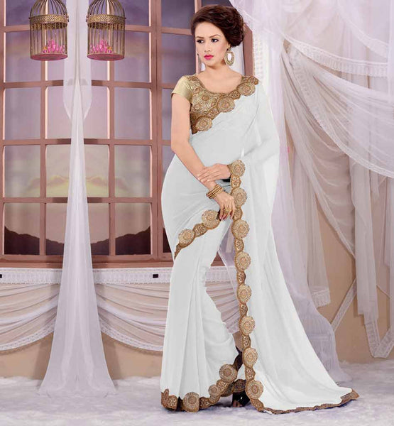 EXPRESS YOURSELF WITHOUT SPEAKING A WORD WITH THIS FASHIONABLE INDIAN PARTY WEAR SAREE BLOUSE NECK DESIGN WITH EXCITING ROUNDED BORDER WORK