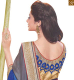 FROM THE HOUSE OF STYLISH BAZAAR WONDERFUL BLUE & GREY COLORED SAREE WITH GREAT BORDER WORK RTJM2824