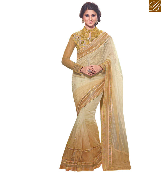 STYLISH BAZAAR SPECTACULAR MULTICOLORED SAREE WITH OUTSTANDING EMBROIDERY WORK RTJM2826