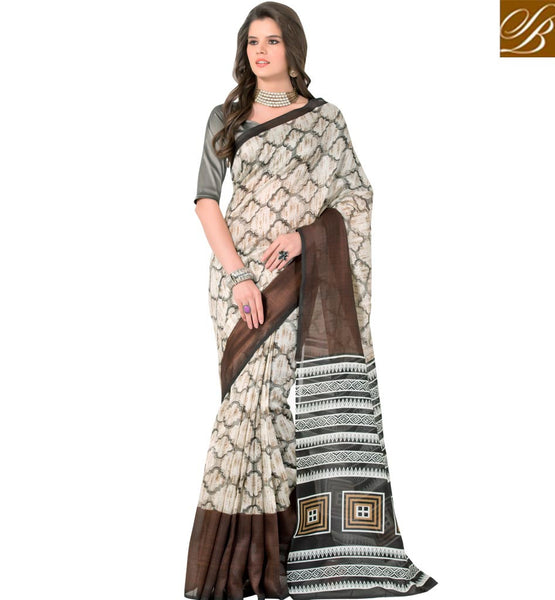 STYLISH BAZAAR ANGELIC DESIGNER PARTY WEAR PRINTED SAREE RTELN28