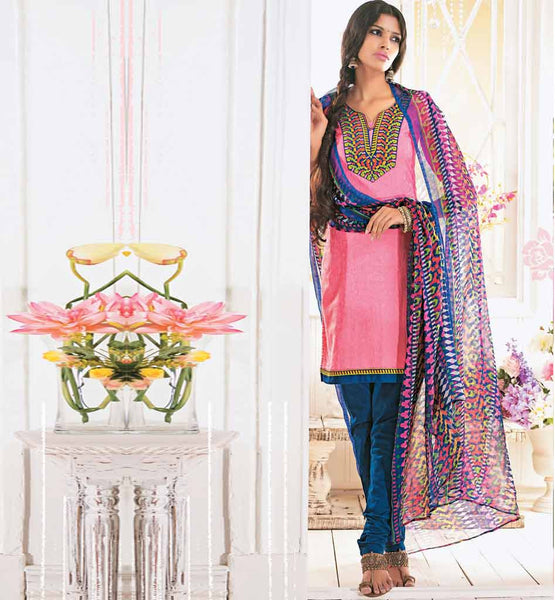 EYE-CATCHING COTTON SALWAR SUIT MATERIAL RTALM2907