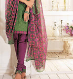 STRIKING GREEN COTTON SALWAR SUIT MATERIAL RTALM2911