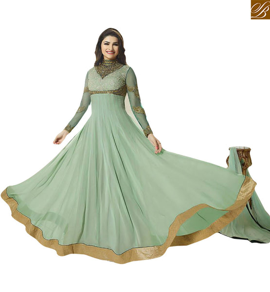 ROYAL PARTY WEAR SUIT FOR WOMAN VNPD2941 BY LIGHT GREEN