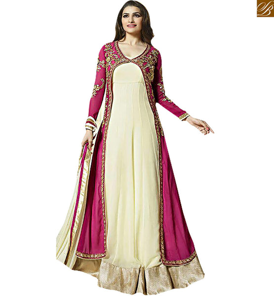 PRACHI DESAI IN NEW DESIGNER PARTY WEAR SALWAAR KAMEEZ ANARKALI STYLE VNPD2942 BY PINK
