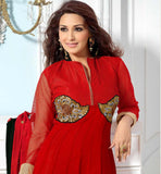 Ravishing red sonali bendre anarkali shop online