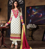 2015 DESIGN LADIES WEAR SALWAR KAMEEZ DRESS MATERIAL SHOP ONLINE WHITE