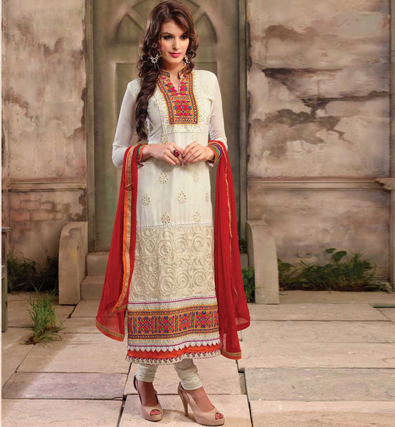 A line long georgette party wear salwar kameez 2015 designs